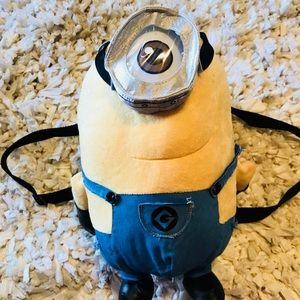 "Other - Despicable Me Minions Stuart plush 14"" backpack"